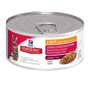 HILLS SCIENCE DIET CAT LIGHT ADULT 156G x 24