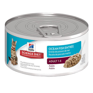 HILLS SCIENCE DIET CAT OCEAN FISH ENTREE ADULT 24 x 156G