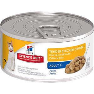 HILLS SCIENCE DIET CAT TENDER CHICKEN DINNER ADULT 7+ 156G x 24