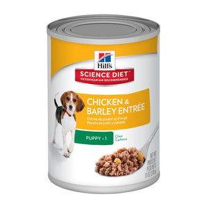 HILLS SCIENCE DIET DOG CHICKEN & BARLEY ENTREE PUPPY 370G x 12