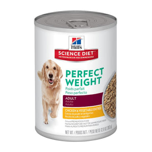 HILLS SCIENCE DIET DOG PERFECT WEIGHT ADULT 363G x 12