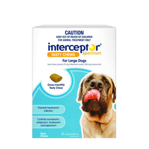 INTERCEPTOR SPECTRUM DOG 22-45KG BLUE 3 PACK