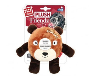Gigwi Plush Friendz Rubber Ring Bear