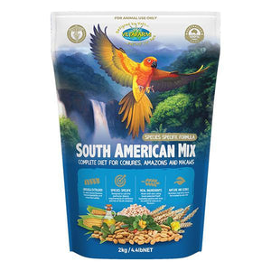 VETAFARM SOUTH AMERICAN MIX PARROT FOOD 2KG