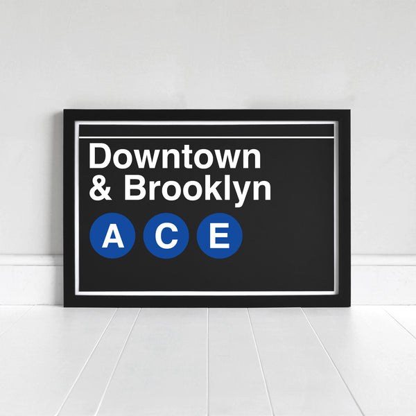 Subway Sign Art Prints