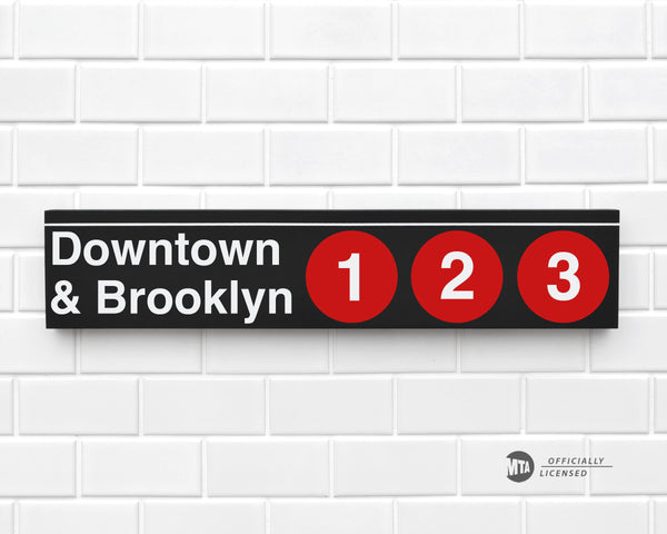 Downtown & Brooklyn 1-2-3 Trains