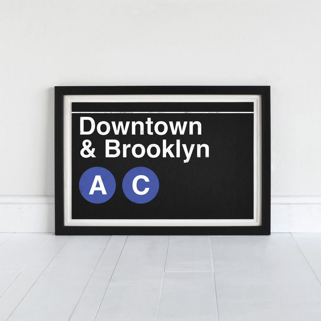 Downtown & Brooklyn A-C Trains - Art Print