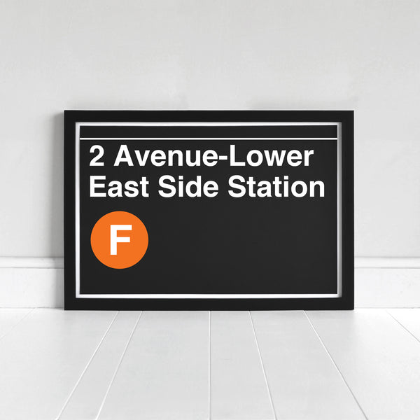 2 Avenue-Lower East Side Station - Print