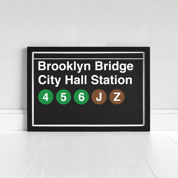 Brooklyn Bridge City Hall Station - Print