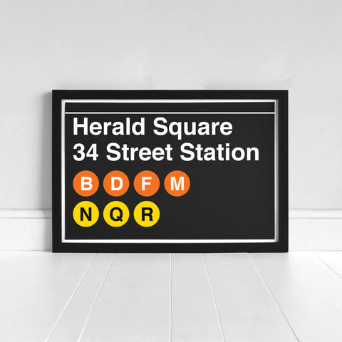 Herald Square 34 Street Station - Print