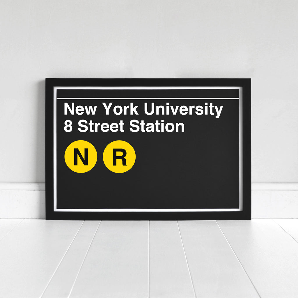 New York University 8 Street Station - Print