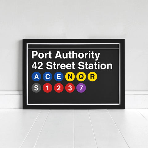 Port Authority 42 Street Station - Print
