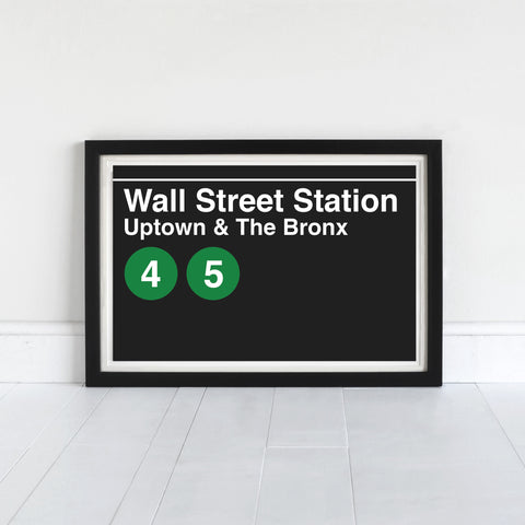 Wall Street Station Uptown & The Bronx - Print