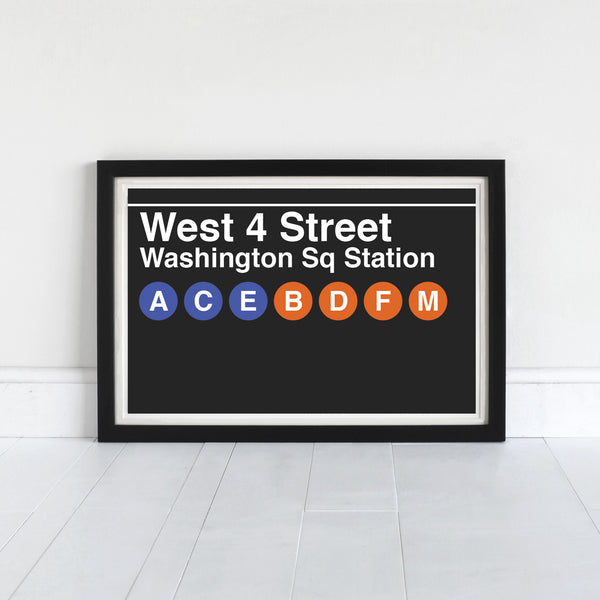 West 4 Street Washington Sq Station - Print