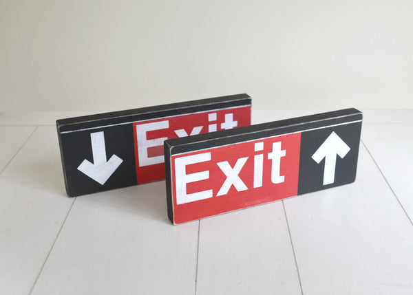 Subway Exit Sign with Arrow