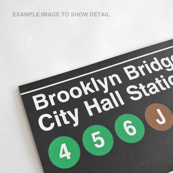 Downtown & Brooklyn 4-5-6 - Print