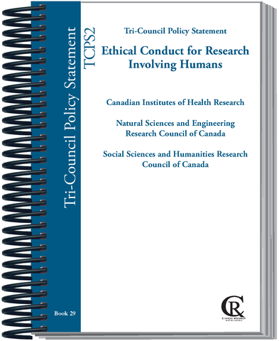 PRE-ORDER Book 29:  2021 Canadian TRI -COUNCIL POLICY STATEMENT Ethical Conduct for Research Involving Humans