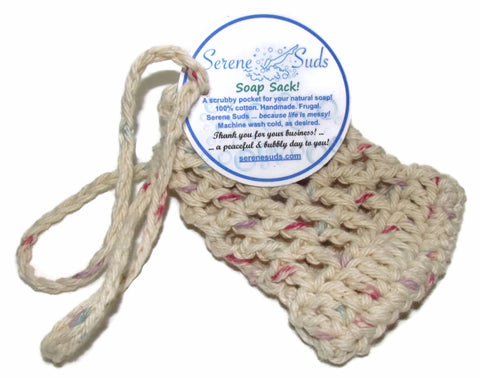 Soap Saver Bag - Variegated Ecru