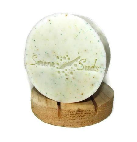 "alt = ""natural rosemary peppermint soap invigoration round"""