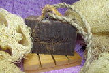 "alt = ""natural artisan soap lavender with loofah hemp cord"""