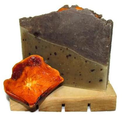 Jubliee! - Persimmon/Green Tea & Coffee Soap
