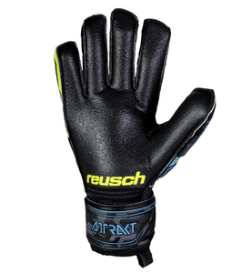 Reusch Attrakt RG Finger Support Negro Amarillo
