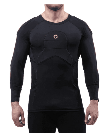 ELITE  BADS  ¾ Sleeve, Padded Compression Shirt