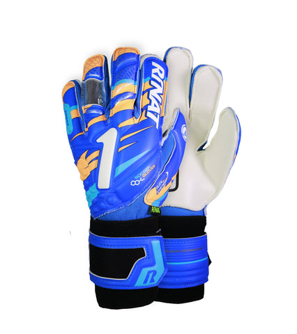 Image of Guantes Rinat Shocker SPINE SEMI Azul-Naranja