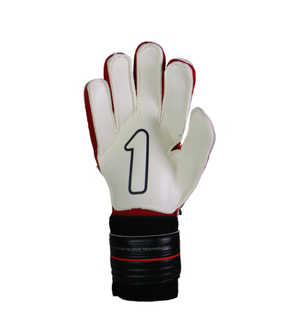 Image of Guantes Rinat Shocker SPINE SEMI Negro-Rojo