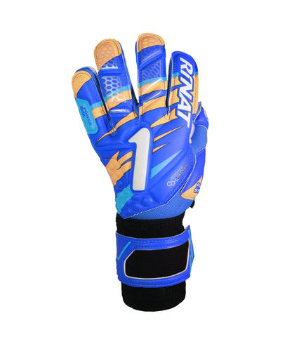 Image of Guantes Rinat Shocker SEMI Azul-Naranja
