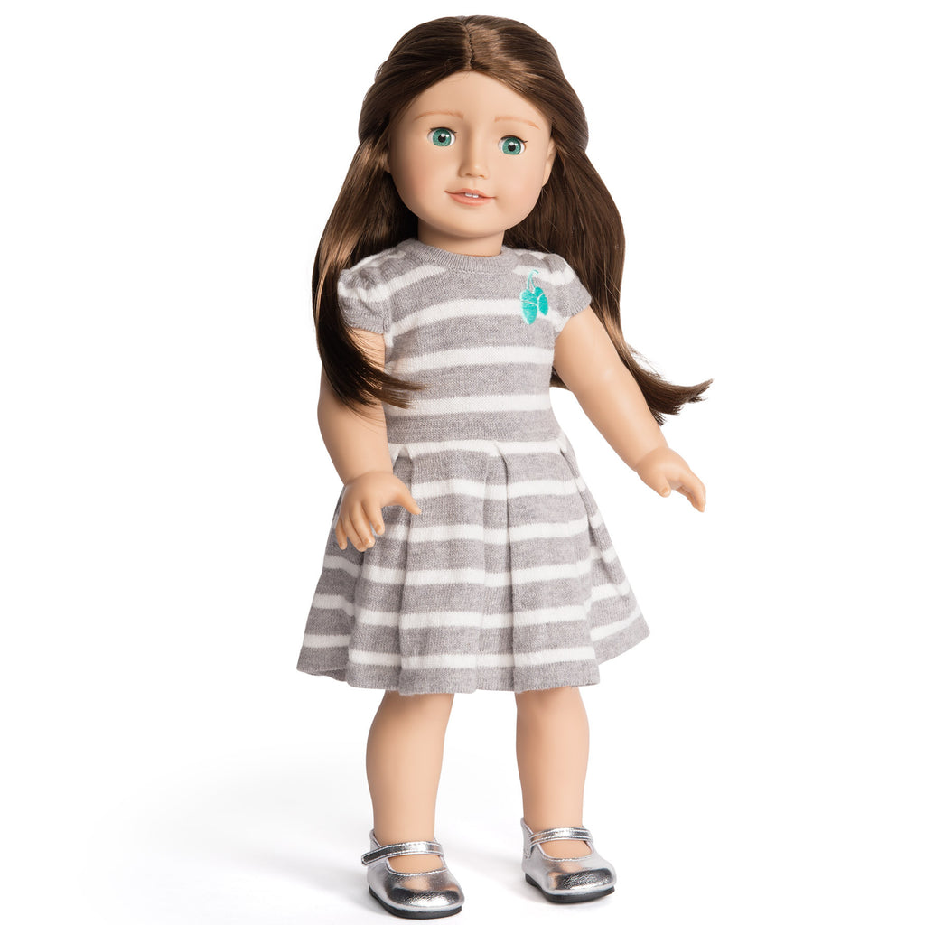 Florrie Doll 5 Light Skin Brunette Hair Green Eyes Doll