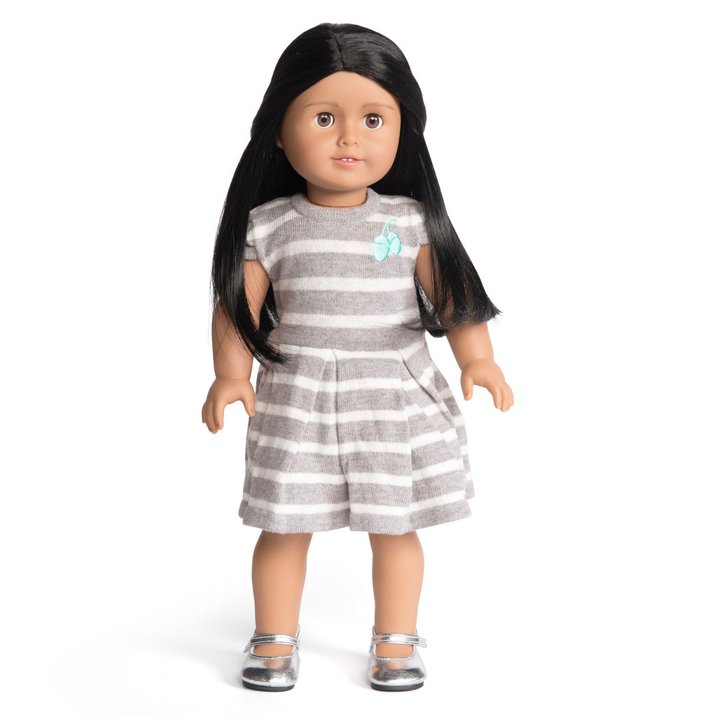 Florrie Doll 9 Medium Skin Black Hair Brown Eyes Doll