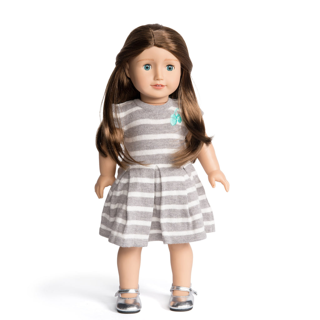 Florrie Doll 6 Light Skin Brunette Hair Blue Eyes Doll