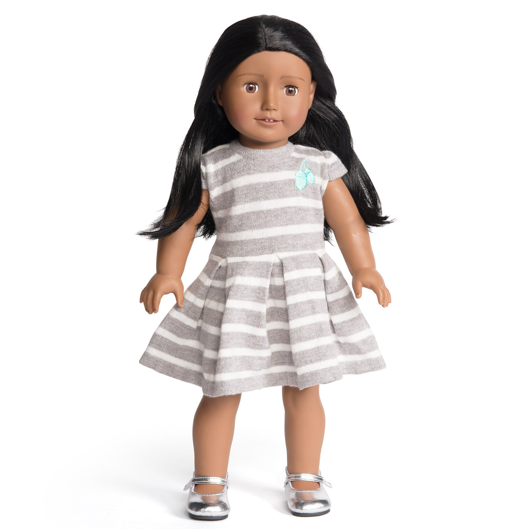 Florrie Doll 10 Dark Skin Black Hair Brown Eyes Doll
