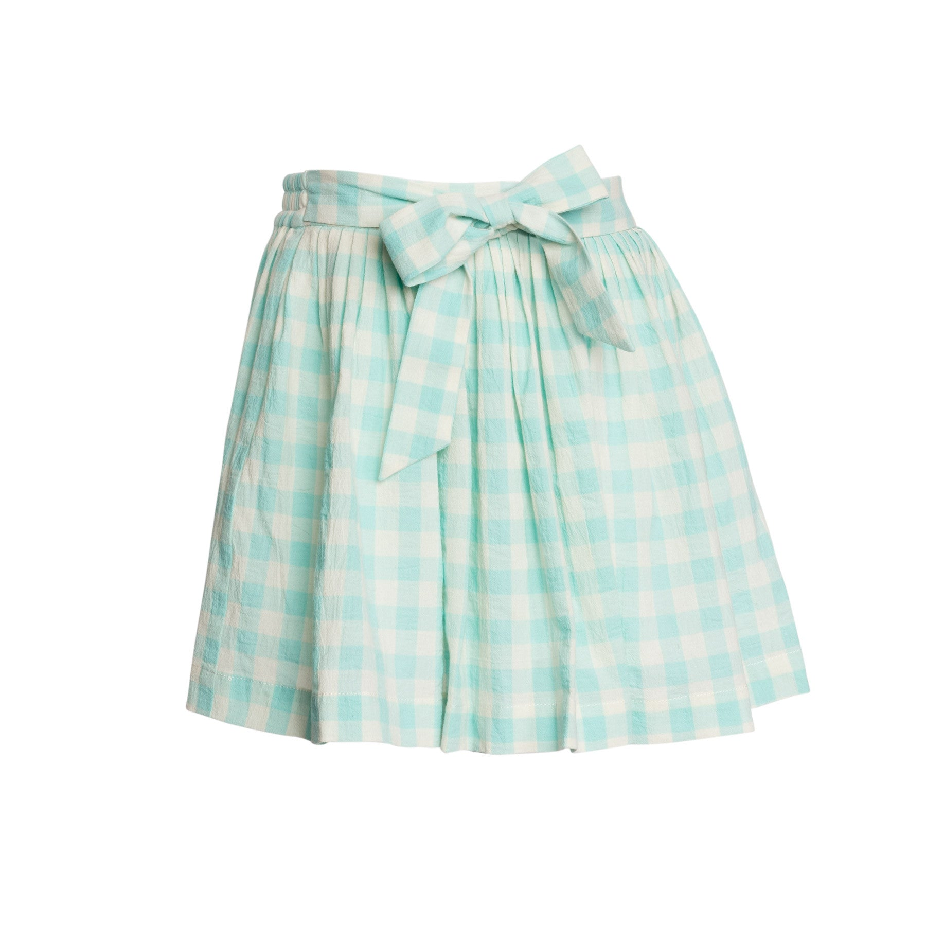 Cotton Check Skirt
