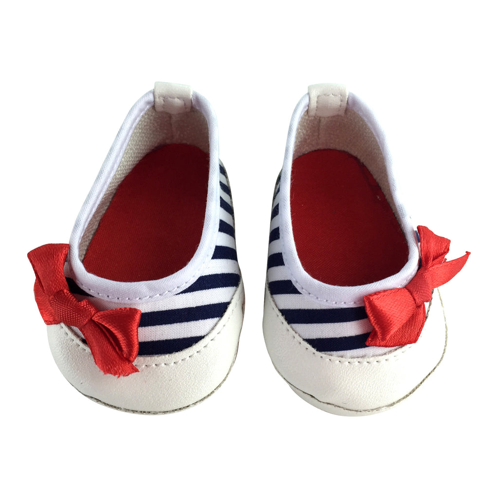 Navy Stripe Shoes