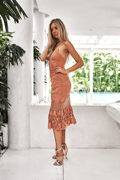 Estelle Dress - Salmon