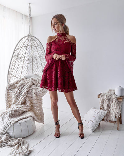 Tanya Dress - Deep Red