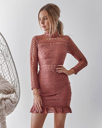 Riverdale Dress - Mauve