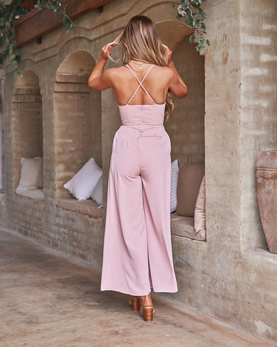 Delaney Jumpsuit - Pink