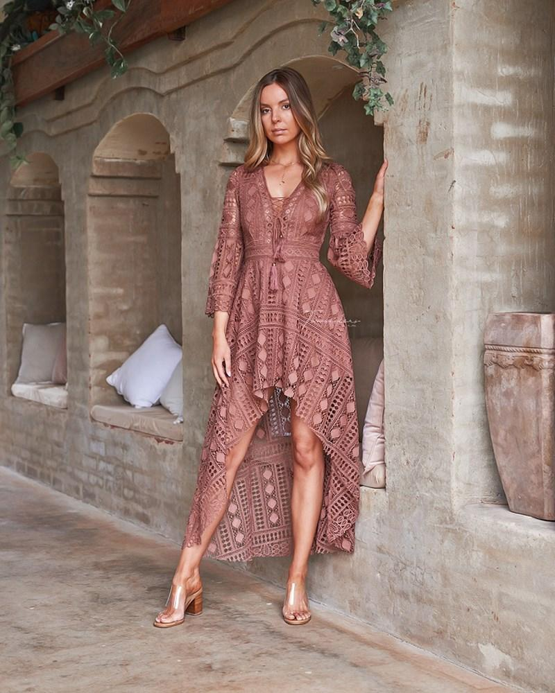Boho High Low - Mauve