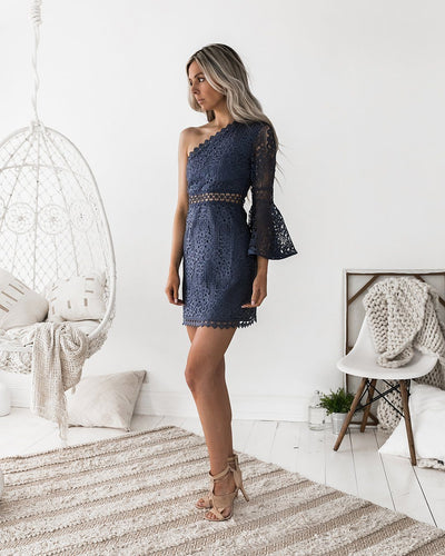 Elysian Dress - Steel Blue