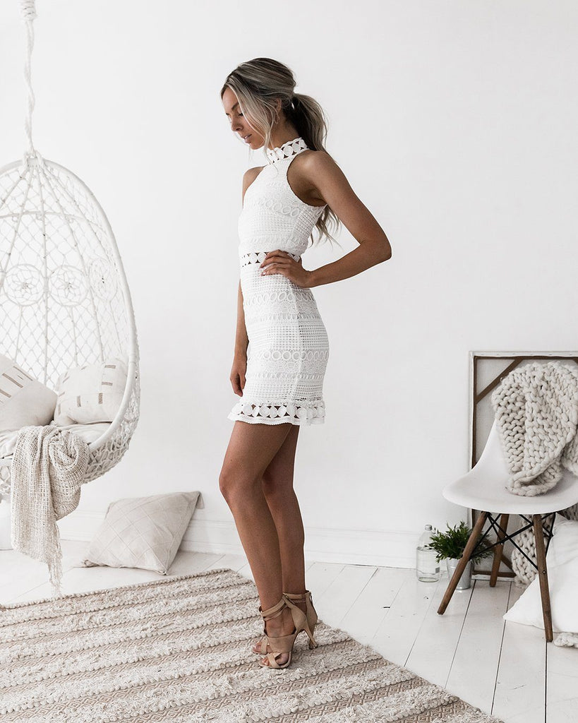 Rivers Dress - White