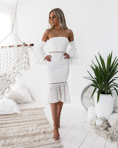 Brianna Dress - WHITE