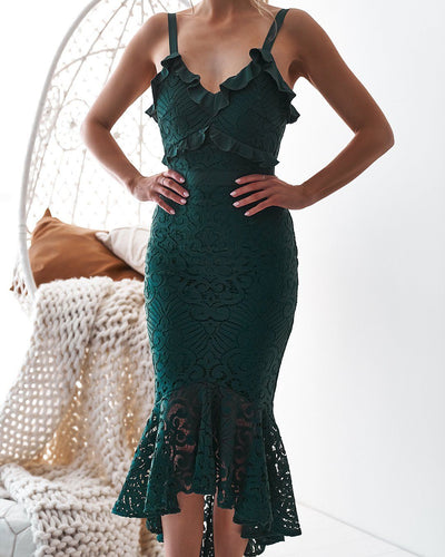 Leanne Dress - Emerald Green