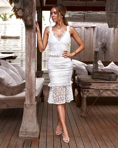 Cordelia Dress - White