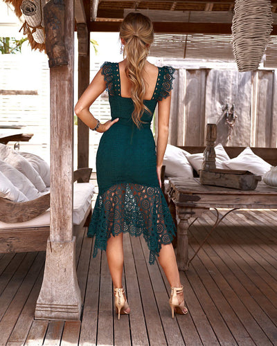 Giselle Dress - Emerald Green