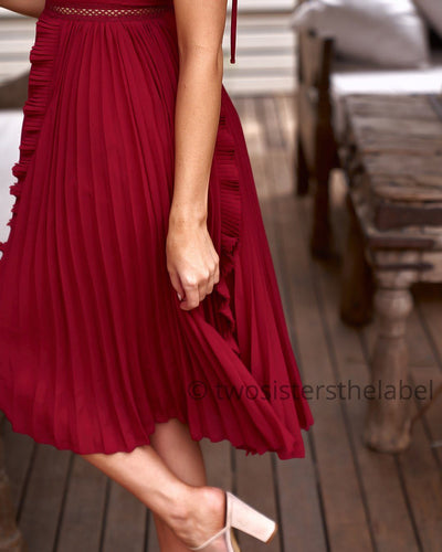 Maia Dress - Red