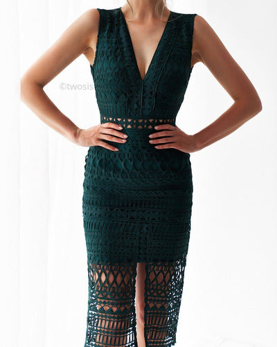 Scarlett Dress - Emerald Green