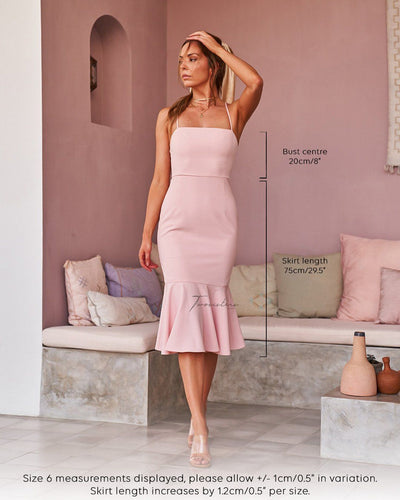 Twosisters The Label Eveleen Dress Blush